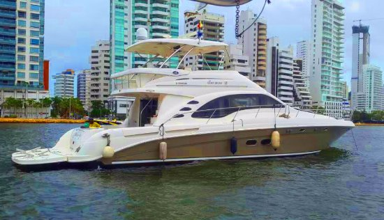 Cartagena District, Colombia: Alquiler de yates en Cartagena Colombia, Sea Ray 58, YatesDeCartagena.com