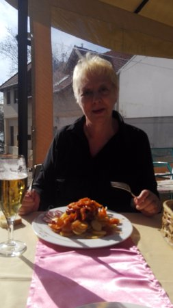 Vac, Hungary: sauté de porc sauce hongroise