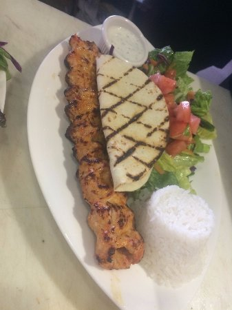 Ballston Spa, NY: Chicken Adana Lunch Platter
