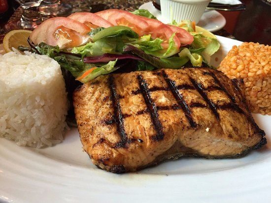 Ballston Spa, NY: Grilled Salmon