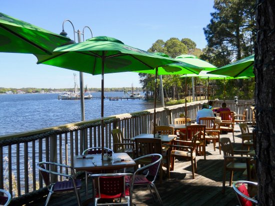 Boathouse Landing deck view on Rocky Bayou