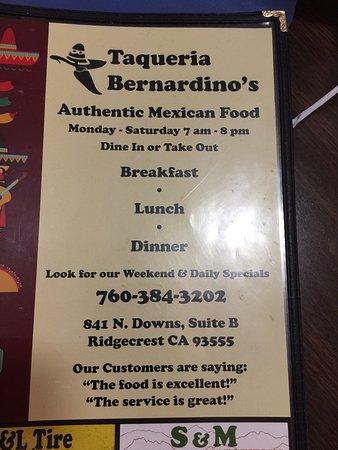 Bernardino's Restaurant: photo0.jpg
