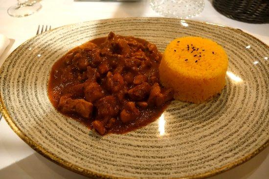 Restaurant La Salsa: Tika masala de pollo.