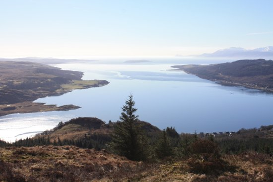 Tighnabruaich, UK: View from top of the hill behind Tregortha looking over to Kames with Arran beyond.