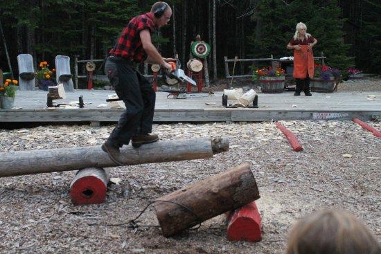Ellsworth, ME: Lumberjack Show