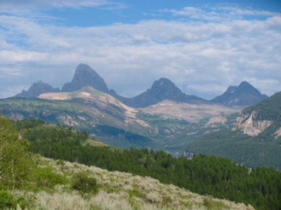 Tetons from the Idaho side, a welcoming place for ECLIPSE watchers.  See eclipsevictorcampingrv.