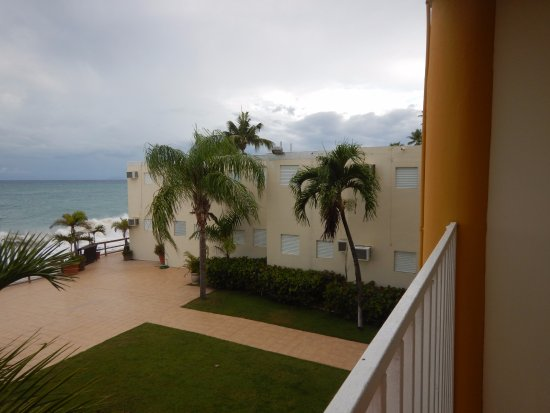 "Villa Cofresi Hotel: Looking to the right of our ""deluxe"" ocean view room."