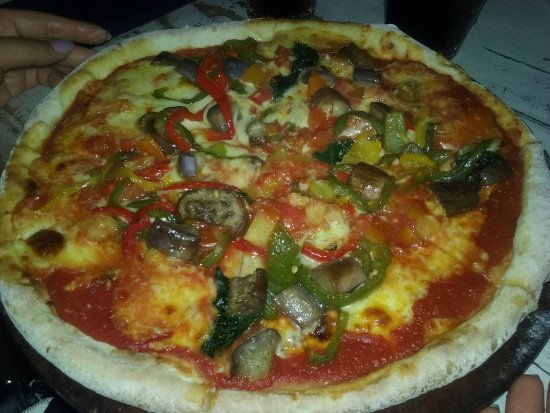 Great Pizza at Cafe Marzano in Legian