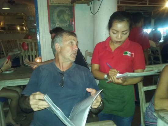 Very Friendly and Helpfull Staff at Cafe Marzano in Legian,