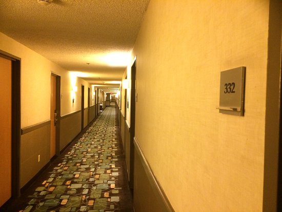 Fremont Hotel and Casino: Room 332 is at very end of hall.