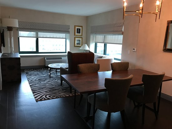 Living Room And Dining Table Picture Of Hotel Indigo Pittsburgh East Liberty Tripadvisor