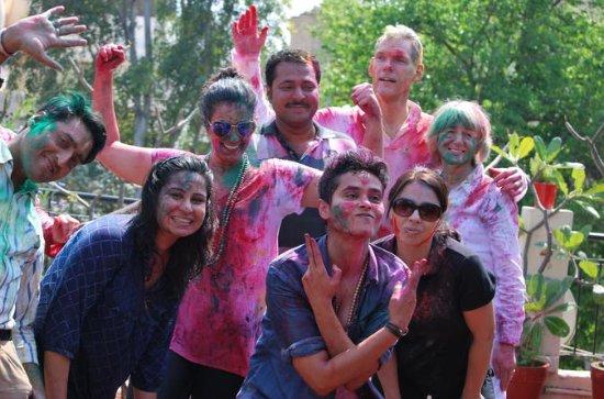 Celebra Holi con una familia india...