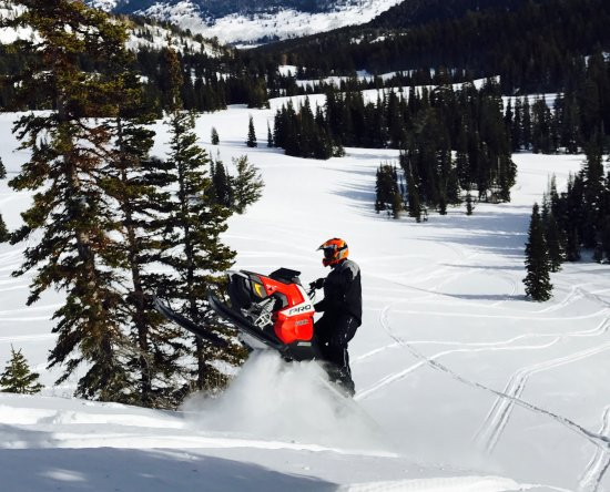 Woods Cross, UT: Rent a high performance snowmobile and explore ''the best snow on earth''