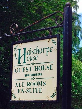 Haisthorpe House: Signboard