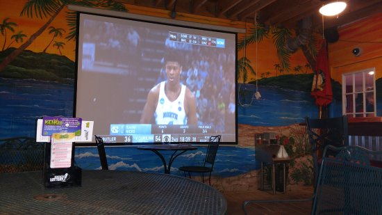 La Grange, KY: Outdoor Big Screen On the patio