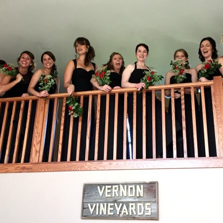Viroqua, WI: Bridesmaids in the Tasting Room @ Vernon Vineyards