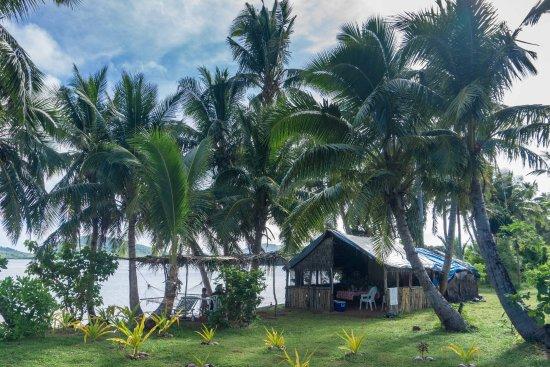 Matacawalevu Island, Figi: diningarea close to the beach