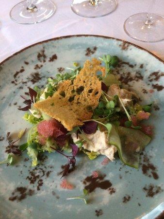 Gudme, الدنمارك: Fantastik gourmet middag i historiske omgivelser og stadig med nutidens komfort. Skønt værelse o