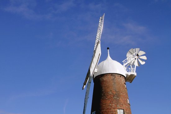 Green's Windmill against blue sky