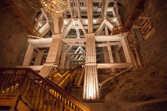 Auschwitz Krakow - Tours : Wieliczka Salt Mine - massive support structure