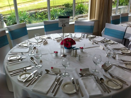 wedding table setting option picture of porth avallen hotel st