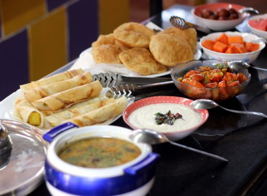 Dabolim, Ινδία: Traditional Indian Breakfast