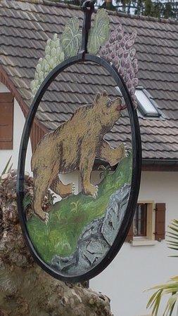 Sugiez, Schweiz: Enseigne du restaurant