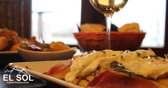 Hotel El Sol : Huevos Rotos con jamón