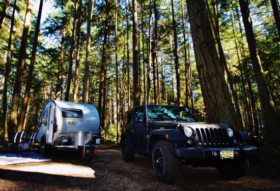 Rathtrevor Beach Provincial Park: Trial run with our new T@B Outback.