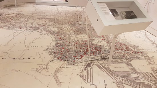 SeaCity Museum: City map showing homes of the workers