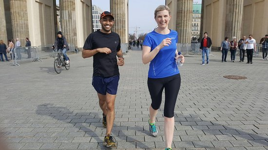Mike's SightRunning Berlin: Through the Brandenburg Gate. What a finish to the marathon for anyone running in September.