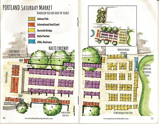 Booklet Vendor Map - Picture of Portland Saay Market, Portland ... on