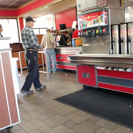 Christiansburg, VA: View of the inside of the restaurant facing the counter