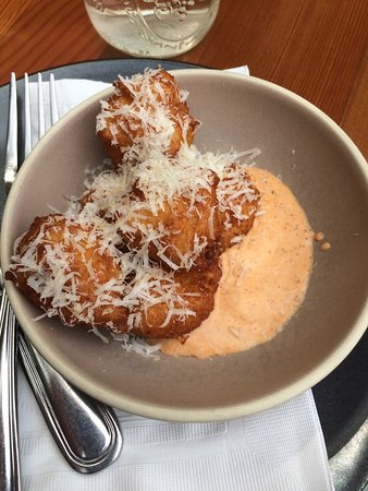Philo, CA: Smoked potato beignets