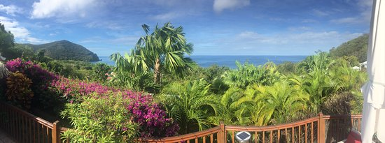 Rochers Caraibes-Eco Village: View from the deck!