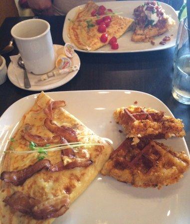 Pembroke, Canada: Frita Crepe at top, Bacon Mushroom Swiss Crepe at bottom
