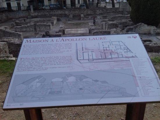 la maison l 39 apollon laur photo de sites arch ologiques de vaison la romaine vaison la. Black Bedroom Furniture Sets. Home Design Ideas