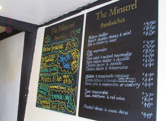 Edenbridge, UK: The Minstrel menu