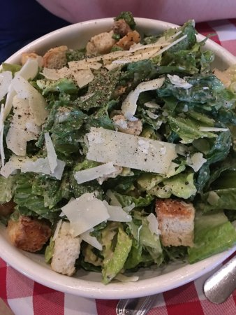 Cedar Hill, TX: Large cesar salad. Large enough to feed 4-5 people.