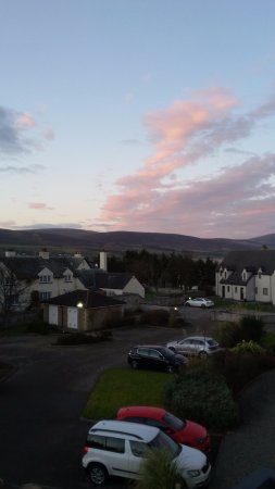 Brora, UK: View from bedroom Links Apartments