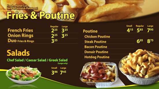 Dieppe, Canada: ED's Sub Fries and Poutines