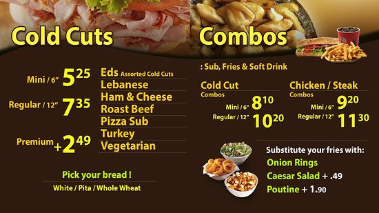 Dieppe, Canada: ED's Sub Cold cuts and Combos