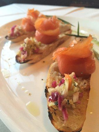 Goshen, Estado de Nueva York: Salmon Bruschetta