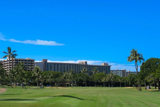 Kaanapali Golf Courses: last 3 or 4 holes goes right through the resort