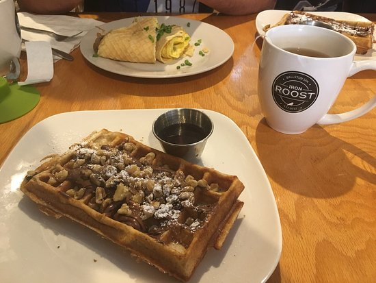 Ballston Spa, NY: Always fresh waffles. We tried their egg waffle for the first time and it is really nice as well