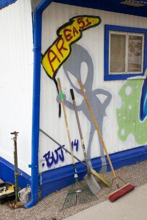 Alamo, نيفادا: Painting outside of restaurant
