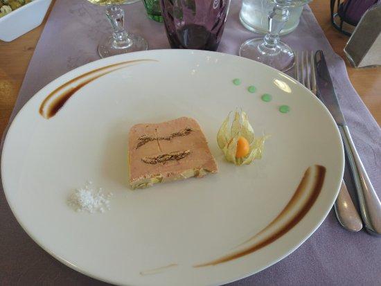 Monbazillac, France: Foie gras aux figues (trés fin)