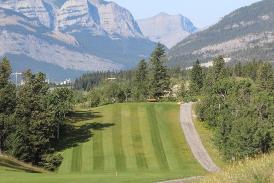 Seebe, Canada: #16 Tee looking down the Bow Valley