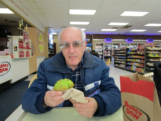 Johnston, RI: Louis with his Pistachio Muffin.
