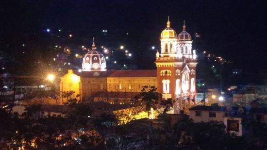 Caqueza, Colombia: Vista desde la capilla de Santa Bárbara
